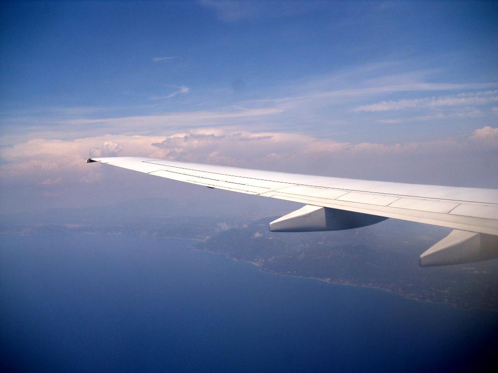 Landeanflug auf Korfu
