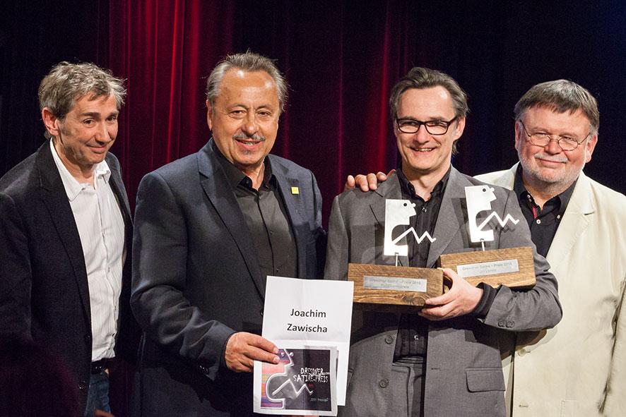 Wolfgang Stumph überreicht Satire-Preis