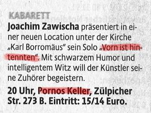 "Wo ist ""Pornos Keller""?"